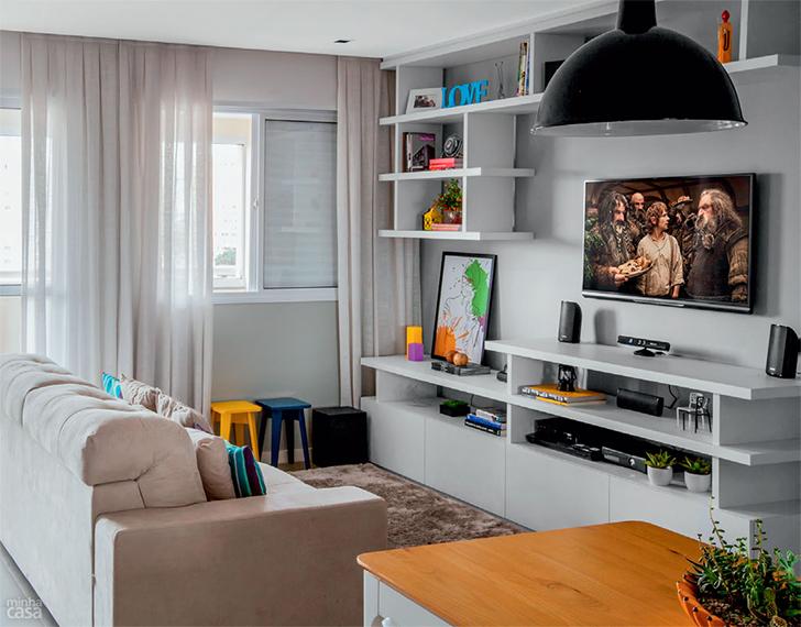 como decorar ambientes pequenos - pará móveis